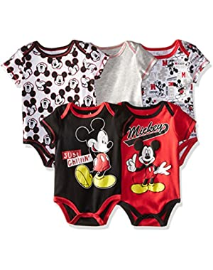 Disney Baby Boys' Mickey Mouse 5-Pack Bodysuit