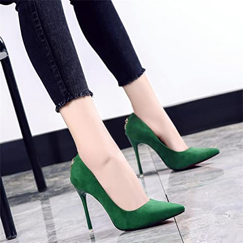 51738c06d9 Green High Heels Pointed Fine With Sexy Shoes ( Color : Green , Size : 36