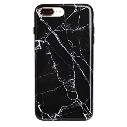 Black Marble iPhone 8 Plus Case/iPhone 7 Plus Case , Premium Protective  Cover , Cute Phone Cases for Girls \u0026 Women [Drop Test Certified]