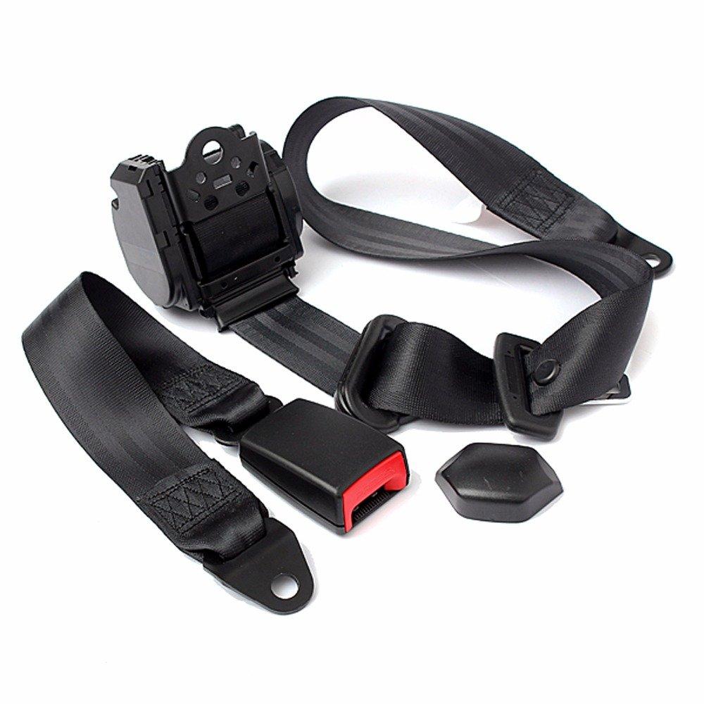 universal r tractable 3 points auto s curit auto kit d 39 ensemble de ceinture de s curit de. Black Bedroom Furniture Sets. Home Design Ideas