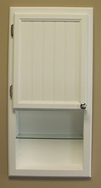 Solid Wood Recessed In The Wall Bathroom Medicine Storage Cabinet With  Shelf, Fits Between Studs
