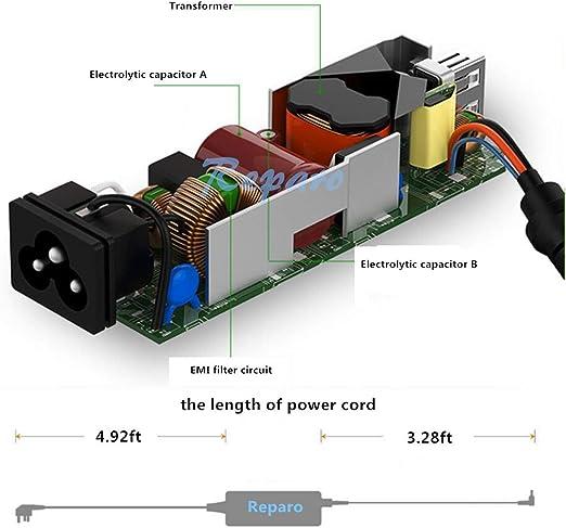Reparo AC Adapter Laptop Charger for Toshiba Satellite C655 C655D C675 C850 C855 C855D C875 C50 C55 C55D C55DT C55T C75 C75D L50 L55 L55D L75 L305 ...