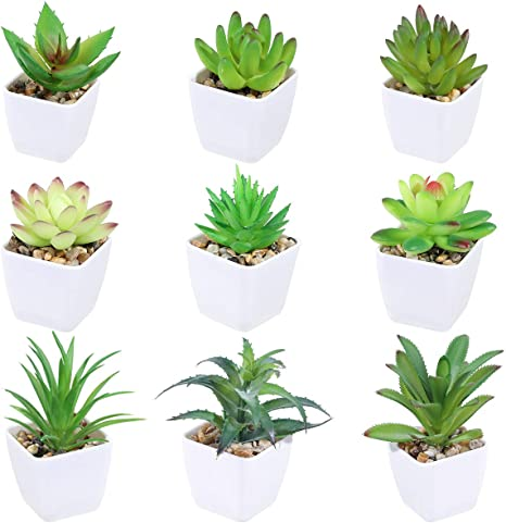Lovely Artificial Plants With Pot Simulation Succulents Mini Bonsai Potted