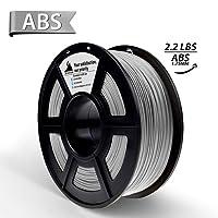 3D Hero 3D Printer Filament ABS Metal filled Silver, Dimensional Accuracy +/- 0.02 mm,1.75 mm 1 kg Spool