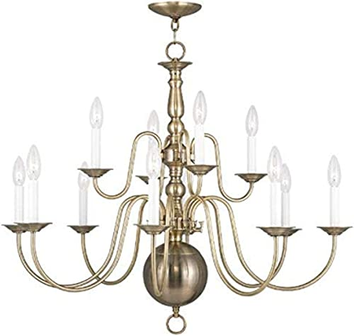 Livex Lighting 5014-01 Williamsburg 12-Light Chandelier