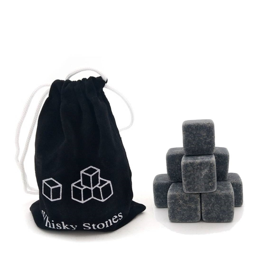 in Gift Box with Velvet Carrying Pouch Chilling Stones Set of 9 Drinking Rocks for Beverage Vodka Reusable Ice Cube Made of 100/% Pure Soapstone Awekris Whiskey Stones Gift Set