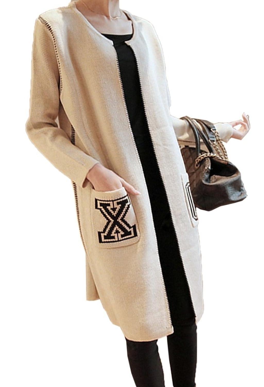 Bigood Women Ladies Korean Chic Floral Loose Cardigan Long Sweater Coat