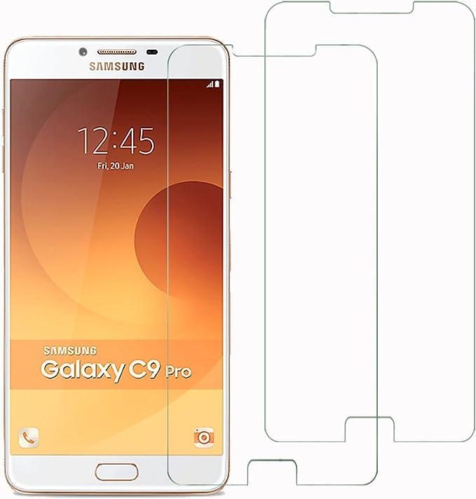Mopiss Pack de 2 Película de protección de Vidrio Templado para Samsung Galaxy C9 Pro (C900): Amazon.es: Electrónica