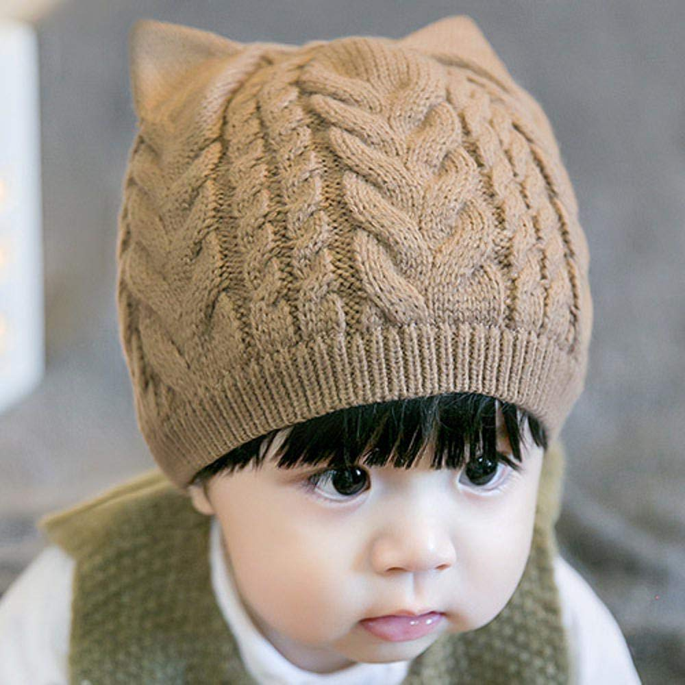 Baby Boys Accessories Myzixuan Wool hat New Baby Cap Fall/Winter Baby hat Sweater Cap Set