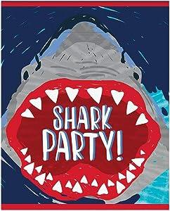 Unique Shark Party Loot Bags, 8 Ct.