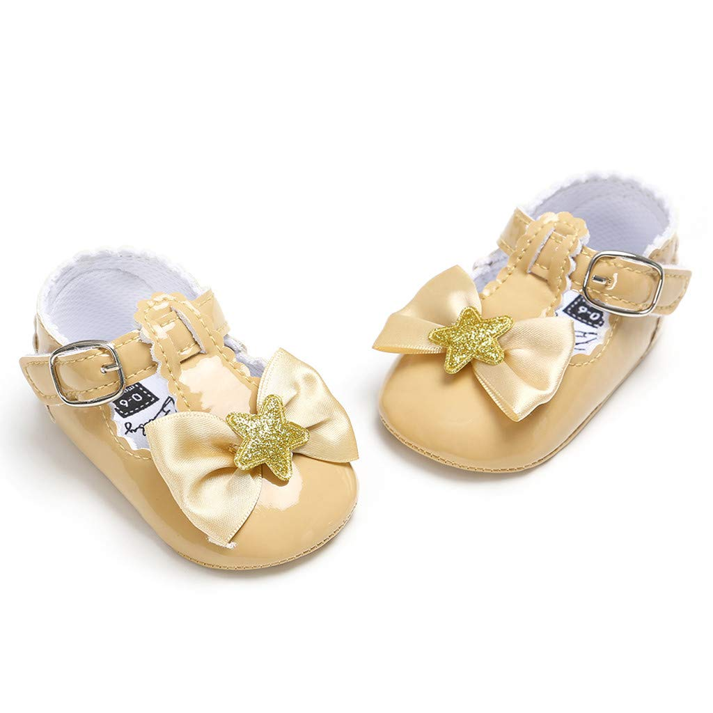 Infant Mary Jane FAPIZI Children Five-Pointed Star Leather Princess Shoes Outdoor Dance Flats Casual Shoes
