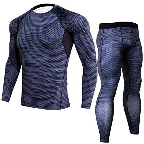 モッキンバード同志例外スポーツシャツ メンズ 長袖 コンプレッションウェア 上下セット 加圧シャツ トレーニング 吸汗速乾 インナー 冷感 スポーツウェア S~3XL