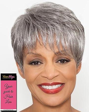Amazon Com Stella Wig Color 1 Black Foxy Silver Wigs Short Pixie