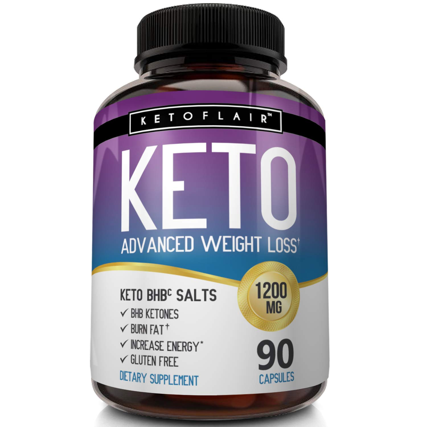 Best Keto Diet Pills GoBHB 1200mg, 90 Capsules Advanced Weight Loss Ketosis Supplement - Natural BHB Salts (beta hydroxybutyrate) Ketogenic Fat Burner, Carb Blocker, Non-GMO - Best Weight Loss Support by NutriFlair (Image #6)