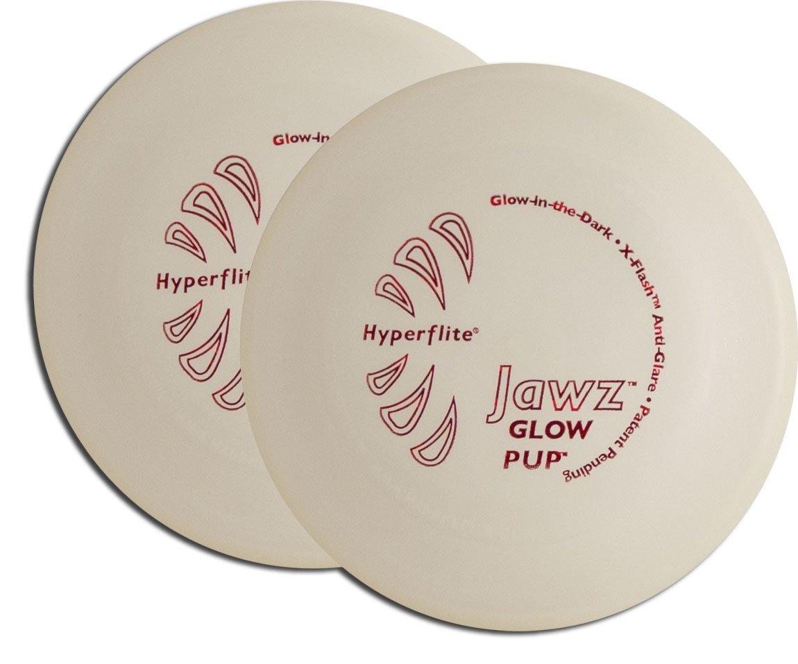 Hyperflite K-10 Glow Pup Jawz Dog Disc Two Pack