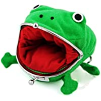 Cute Green Frog Coin Bag Cosplay Props Plush Toy Purse Wallet for Naruto Lovers Cosplay