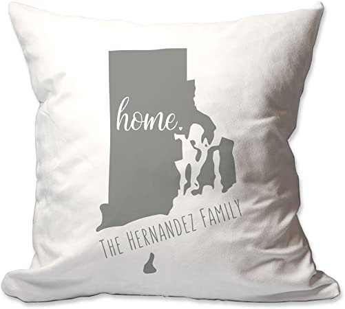 Pattern Pop Personalized State of Rhode Island Home Throw Pillow