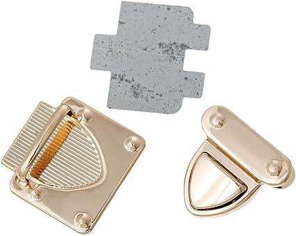 4pcs Turn Twist Lock Clasp Fasteners for Suitcase Handbag Purse DIY Light Gold