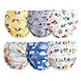 Orinery Cotton Reusable Toddler Baby Training Pants 6-Pack (1-2 Years Old, for Boys(Random Patterns))