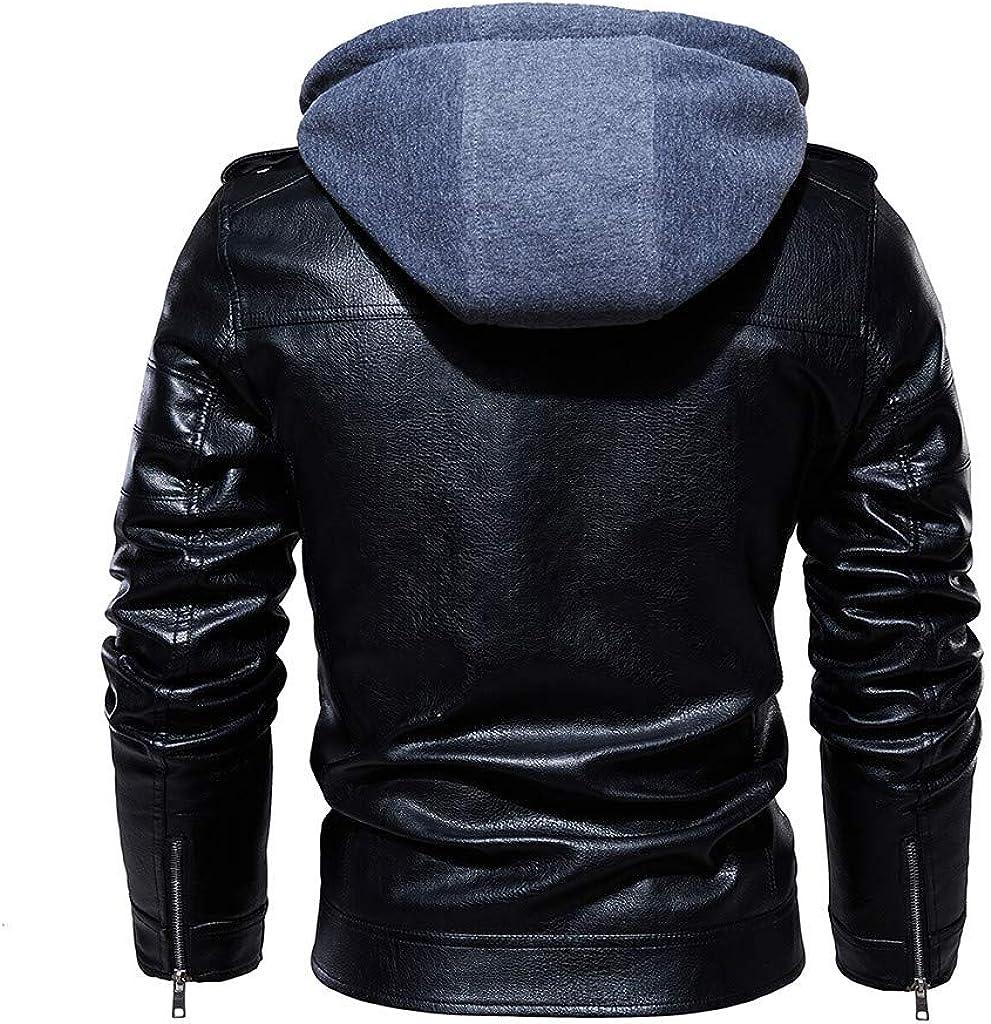 Redacel Mens Winter Warm Jacket Lightweight Outwear Classic Zipper Geometric Line Style Coat
