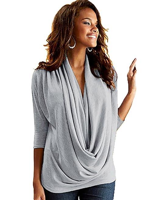 36f99265c4 WanYang Donna Manica a 3/4 Camicetta Abbigliamento Camicie Vestiti Eleganti  da Camicia Lunga Femminili T Shirt Moda Camicie: Amazon.it: Abbigliamento