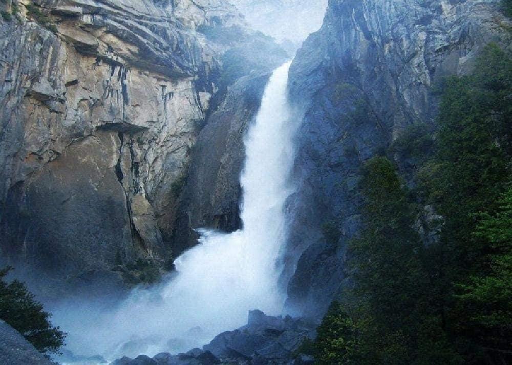 WQEFFTRW HD Great Fire Falls Yosemite National 1000 Puzzle Rompecabezas de Juguete Educativo para niños Rompecabezas de descompresión para Adultos
