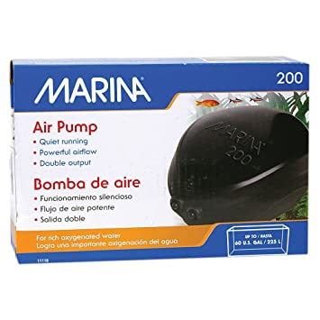 Fish & Aquariums Marina Air Pump 200l Aquariums & Tanks Twin