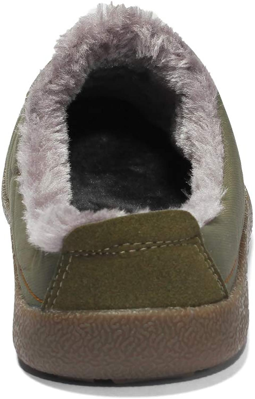 DoGeek Pantoufle Homme de Mousse de M/émoire Confort Chaude Hiver Chausson Hommes Femme Int/érieur Anti-d/érapant Chaussures Taille 36-48