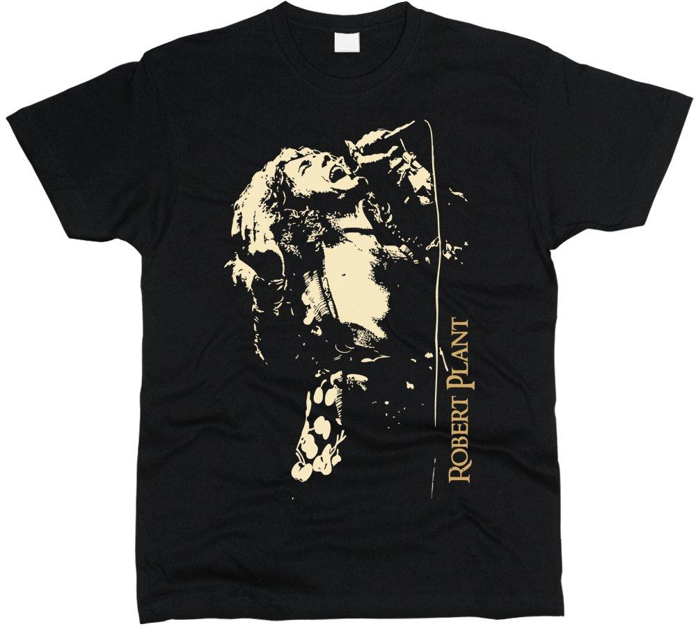 Robert Plant Led Zeppelin T-Shirt Men Regular Fit Cotton