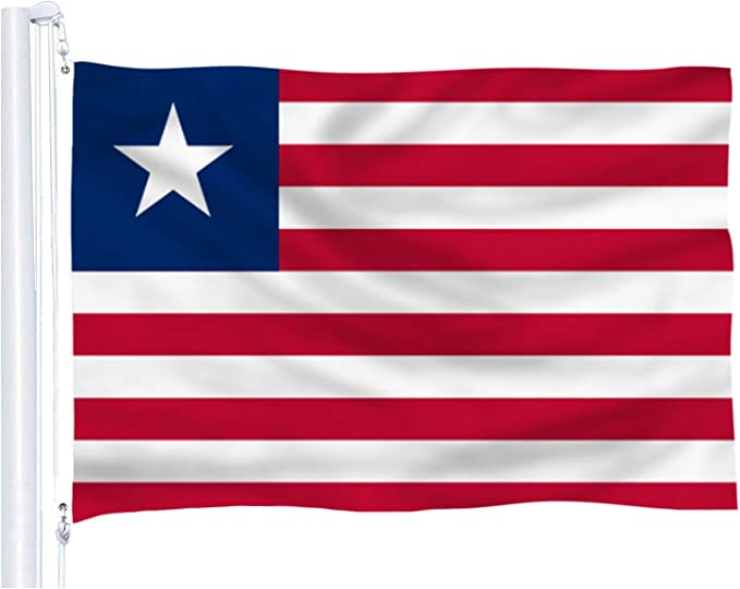 Dflive Liberia Flag 3x5 Ft Thicker Polyester The Republic Ofliberian National Banner With Brass Grommets Garden Outdoor