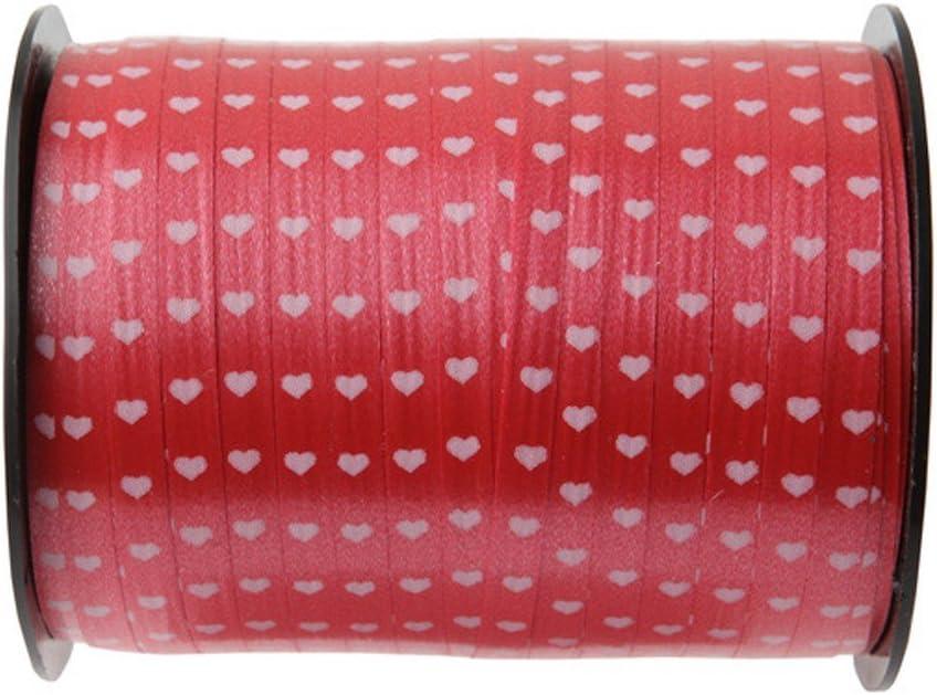 SANTEX 3994-7 Bobine Bolduc Coeur de 7,5mm x 50 m/ètres rouge