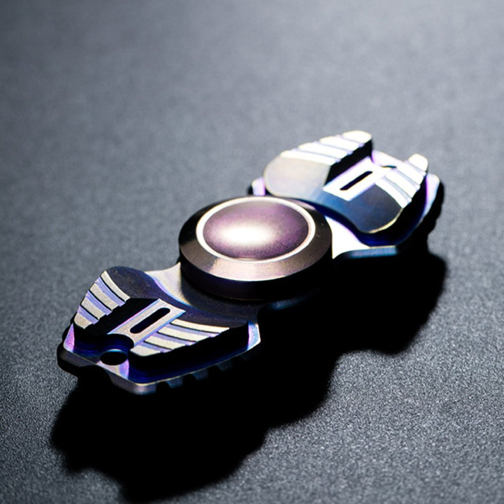 FREELOVE Armed Shark Armor Warrior Fidget Spinner Toy Stress Reducer Premium EDC Disassembly With Premium R188 Ceramic Bearing Helps Focus, Stress, Anxiety, ADHD, Boredom. (Titanium Alloy, Blue)