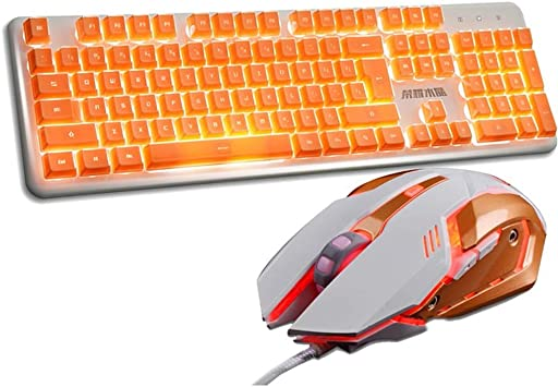 Juego de ratones con teclado metálico, juego de botones ...