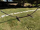 15 Ft. Petra Leisure Indoor/Outdoor Galvanized Steel Arc Hammock Stand. Brown Powder Coat. Strongest New Design. Supports Double Hammock Bed.