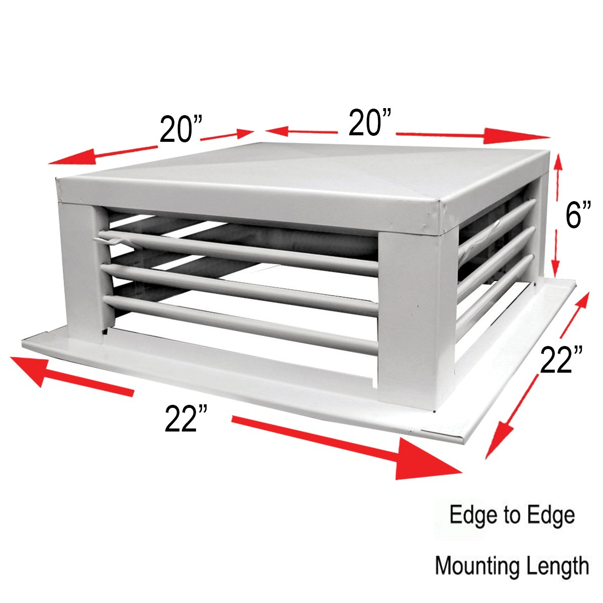GSW DF-20P 20-Inch White Powder Coated 4-Way Adjustable Metal Diffuser for Evaporative/Swamp Cooler