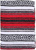 craft room organization ideas El Paso Designs Genuine Mexican Falsa Blanket - Yoga Studio Blanket, Colorful, Soft Woven Serape Imported from Mexico (Red)