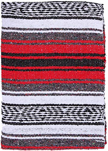 El Paso Designs Genuine Mexican Falsa Blanket - Yoga Studio Blanket, Colorful, Soft Woven Serape Imported from Mexico ()