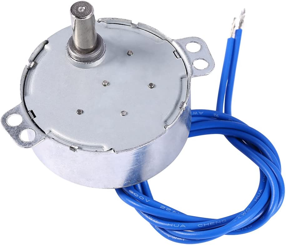 Synchronous Synchron Motor 50//60Hz AC 100~127V 4W 5-6RPM//MIN CCW//CW for Guide Motor Decoration 5-6RPM School Project Turntable Motor