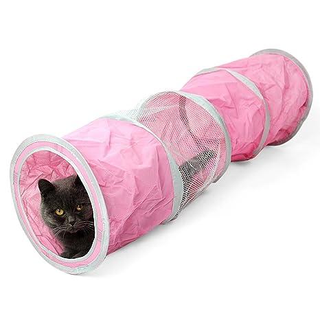 PET transpirable túnel de mascotas plegables tubo de juguete para gato cachorro gatito conejos perro