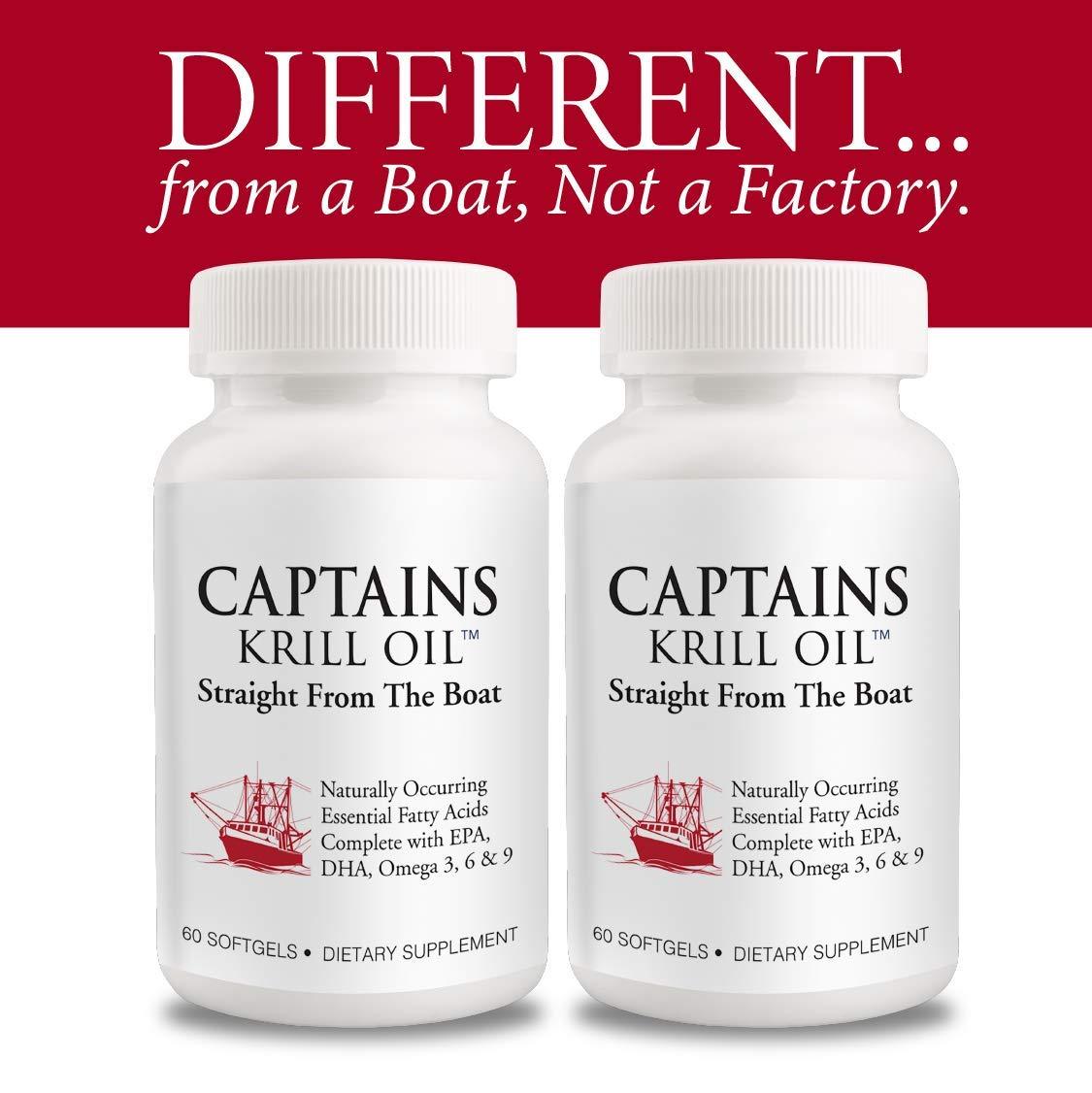 Captains Krill Oil: 100% Pure Flash Frigid Pressed Southern Antarctic Krill Oil (2) by Captains Krill Oil