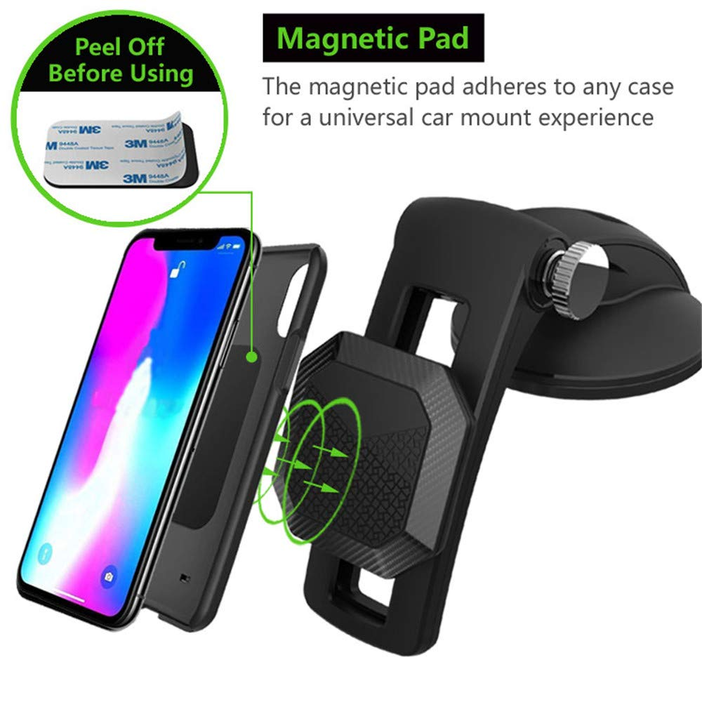 Trdio Car Phone Mount,Magnet Dashboard Universal Cradle Stand Holder for iPhone 11 Pro Xs Max X XR 8 7 6 Samsung Note 10 9 S10 S9 S8 Plus