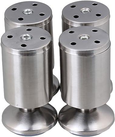 Pieds Reglables De Cuisine En Inox Ronde Diametre 5 Cm Hauteur Lot De 4 Pieds De Meubles Amazon Fr Bricolage