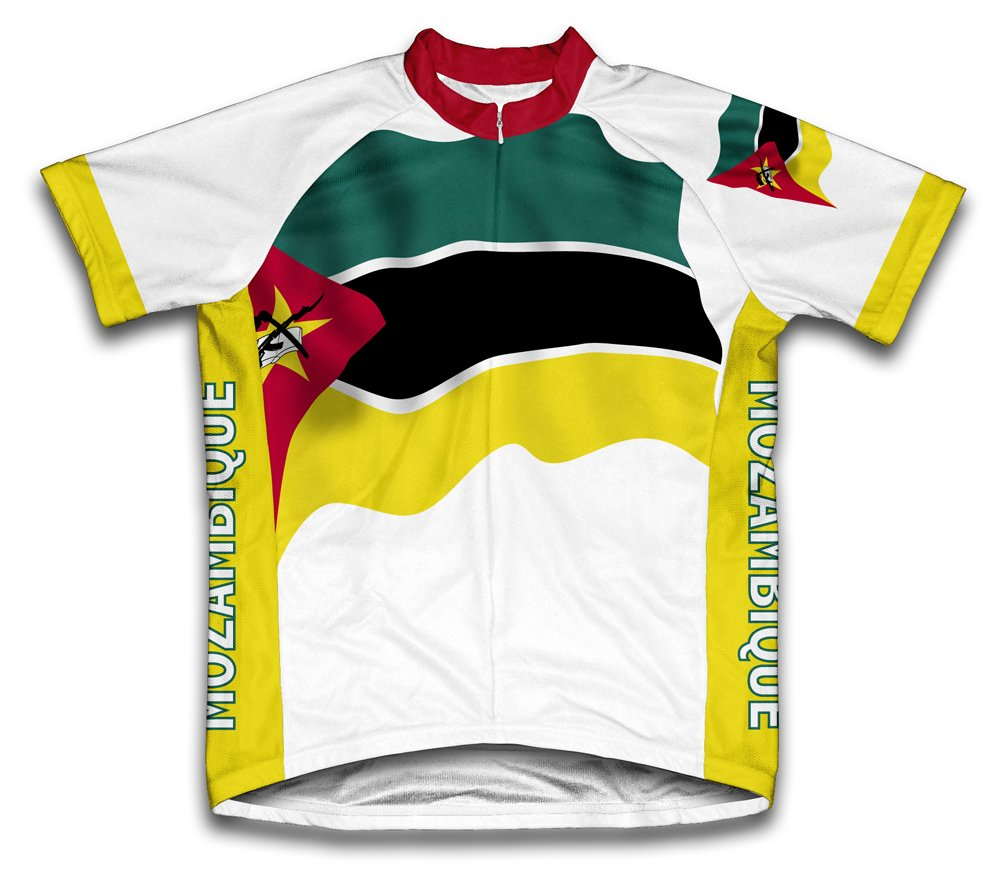 Mozambique Drapeau à manches courtes Maillot de cyclisme pour femme Large Blanc - blanc   B00EDKPVTS