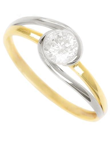 6456970cc78b Anillos de Compromiso MyGold Oro Amarillo Oro Blanco 375 oro bicolor  brillante con piedra 1 circonitas Jewels - Bodas o mujeres Lauren Amy Mod  de 05200  ...