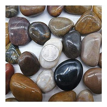 XTXWEN Guijarros Naturales, Piedra De Lluvia/Piedra De Colores, Decoración De Paisajismo De Acuarios, Piedra En Maceta De Jardín, Piedra De Pavimentación De ...