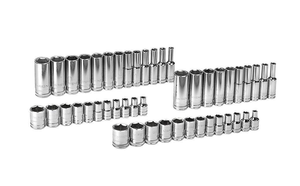 GearWrench 80314D 47 Piece 1/4' Drive 6 Point SAE/Metric Standard and Deep Socket Set Cooper Tools