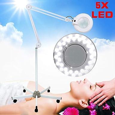 Amazon.com: BoTaiDaHong 5X LED Desktop Magnifier Lamp Floor ...
