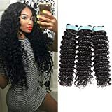 shipping Lace Rosa 9A Brazilian Virgin Hair Deep Wave 3 Bundles (18 20 22) 100% Unprocessed Natural Color Can Be Dyed and Bleached