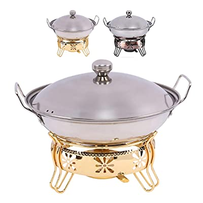 Guoguocy BBQ Barbeque Barbecue Stove,Korean Household Smokeless Stainless Steel Alcohol Dry Boiler,Fire Boiler,Both Indoor and Outdoor,2 Colors (Color : B, Size : 24cm22cm): Garden & Outdoor