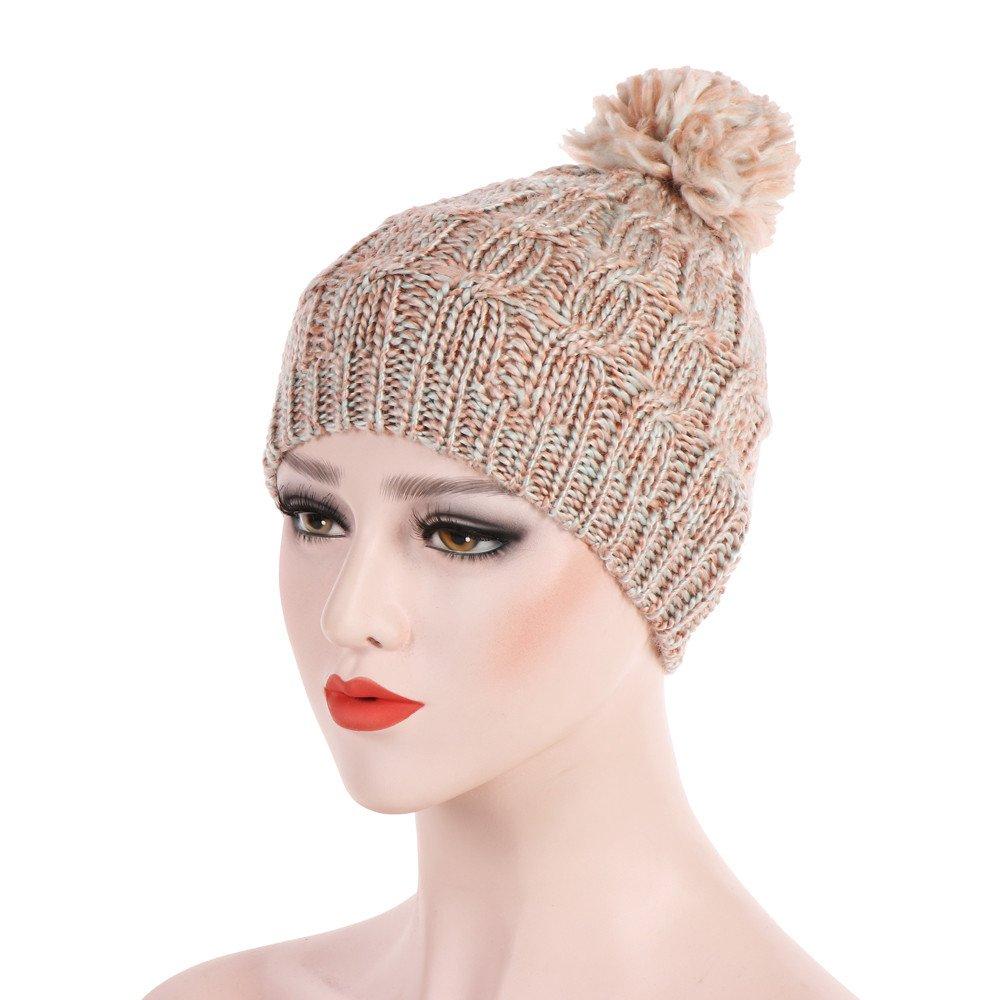 Amazon.com  Yezijin Confetti Knit Beanie - Thick Soft Warm Winter Hat -  Unisex (Beige)  Clothing 7c6c96d8183